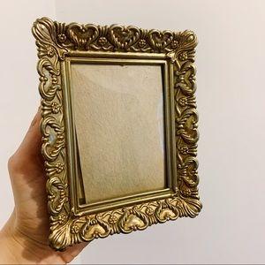 Vtg Goldtone Mini Picture Frame
